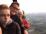 Ongekende ballon vlucht boven de regio Arnhem op maandag  8 oktober 2018