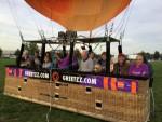 Ongekende ballon vlucht vanaf startveld Deurne op maandag 8 oktober 2018