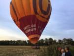 Ongekende luchtballon vaart opgestegen op startveld Deurne op maandag  8 oktober 2018