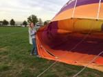 Geweldige ballon vaart opgestegen op opstijglocatie Deurne op maandag  8 oktober 2018