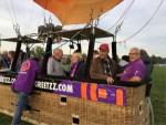 Fabuleuze ballon vlucht gestart op opstijglocatie Deurne op maandag  8 oktober 2018