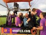 Hoogstaande heteluchtballonvaart in de buurt van Goirle vrijdag 1 september 2017