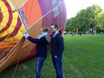 Buitengewone ballon vaart in de omgeving Woerden op vrijdag 10 mei 2019