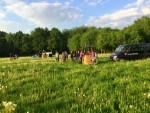 Relaxte ballon vaart vanaf startveld Landgraaf vrijdag 11 mei 2018