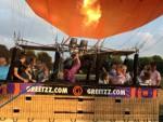 Relaxte ballonvaart in de buurt van Doetinchem vrijdag 13 juli 2018