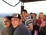 Plezierige heteluchtballonvaart vanaf startveld Beesd vrijdag 15 juni 2018
