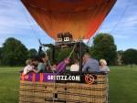 Plezierige ballonvlucht opgestegen op opstijglocatie Maastricht vrijdag 15 juni 2018