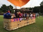 Feestelijke luchtballon vaart in Zwolle vrijdag 15 juni 2018