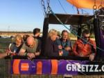 Ongeëvenaarde luchtballonvaart opgestegen op startlocatie Tilburg op vrijdag 17 augustus 2018