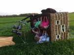 Feestelijke ballon vlucht over de regio Tilburg vrijdag 20 april 2018