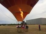 Ongeëvenaarde luchtballon vaart opgestegen op startlocatie Breda vrijdag 20 juli 2018