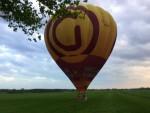 Te gekke luchtballonvaart opgestegen op startlocatie Almelo vrijdag 27 april 2018