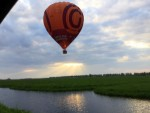 Formidabele ballon vlucht opgestegen op startlocatie Beesd vrijdag 27 april 2018