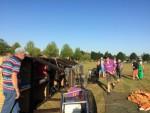 Mooie heteluchtballonvaart vanaf startlocatie Hendrik-ido-ambacht vrijdag  3 augustus 2018
