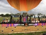 Jaloersmakende ballonvlucht in de omgeving van Ommen op vrijdag 31 augustus 2018