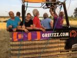 Comfortabele ballonvlucht vanaf startveld Tilburg vrijdag 6 juli 2018