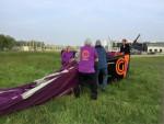 Prettige luchtballon vaart startlocatie Tilburg op woensdag 1 mei 2019