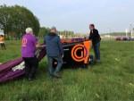 Ongeëvenaarde luchtballon vaart boven de regio Tilburg op woensdag 1 mei 2019