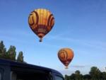 Weergaloze luchtballon vaart gestart op opstijglocatie Beesd woensdag 13 juni 2018