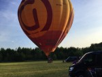 Grandioze luchtballon vaart in de buurt van Beesd woensdag 13 juni 2018