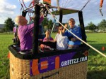 Weergaloze luchtballon vaart vanaf startlocatie Deurne woensdag 13 juni 2018