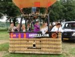 Uitmuntende ballon vlucht over de regio 's-hertogenbosch op woensdag 15 augustus 2018