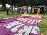 Magische luchtballon vaart opgestegen op opstijglocatie 's-hertogenbosch op woensdag 15 augustus 2018