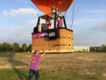 Uitzonderlijke ballonvaart vanaf startlocatie Arnhem op woensdag 17 oktober 2018