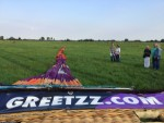 Ultieme luchtballonvaart opgestegen op startlocatie Noordeloos woensdag 18 juli 2018