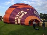Majestueuze luchtballon vaart in Uden woensdag 20 september 2017