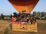 Sublieme ballon vlucht in de buurt van Uden op woensdag 22 augustus 2018