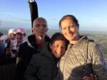 Hoogstaande heteluchtballonvaart opgestegen op startlocatie Beesd op woensdag 3 oktober 2018