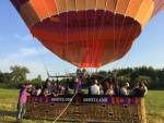 Waanzinnige luchtballonvaart vanaf startveld Beesd woensdag 4 juli 2018
