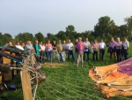 Heerlijke heteluchtballonvaart opgestegen op startlocatie Beesd op woensdag  5 september 2018