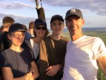 Verrassende ballonvlucht boven de regio Beesd op zaterdag  1 september 2018