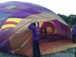 Ongeëvenaarde luchtballon vaart omgeving Tilburg op zaterdag 1 september 2018