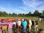Ongeëvenaarde ballon vlucht in de buurt van Beesd op zaterdag 11 augustus 2018