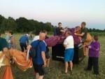 Prettige luchtballon vaart gestart op opstijglocatie Eindhoven zaterdag 14 juli 2018