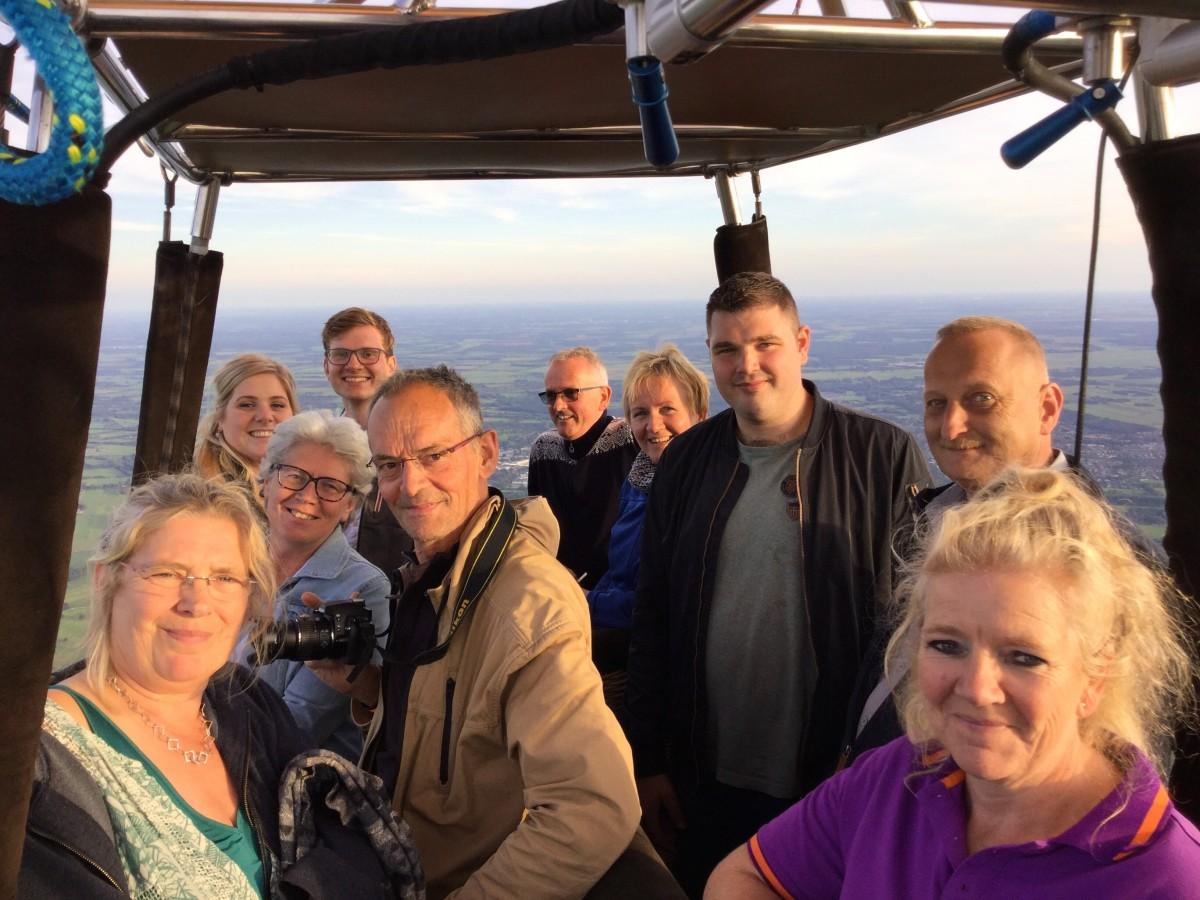 Ballonvaart Midwolde - Uitmuntende ballonvlucht opgestegen op startlocatie Leek