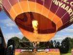 Prettige luchtballon vaart opgestegen in Rijsbergen zaterdag 16 juni 2018