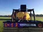 Ongeëvenaarde luchtballon vaart in Enschede op zaterdag 18 augustus 2018
