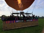 Professionele luchtballon vaart in de regio Akkrum zaterdag 19 mei 2018