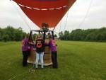 Majestueuze heteluchtballonvaart in de regio Beesd zaterdag 19 mei 2018