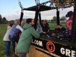 Verrassende ballon vaart in de omgeving van Hoogland op zaterdag 20 oktober 2018