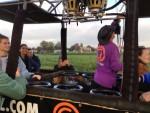Verrassende luchtballon vaart vanaf startlocatie Hoogland op zaterdag 20 oktober 2018