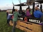 Uitzonderlijke ballonvlucht in de buurt van Hoogland op zaterdag 20 oktober 2018