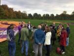Plezierige ballon vaart in de regio Beesd op zaterdag 20 oktober 2018