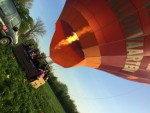 Exceptionele ballonvlucht gestart in Beesd zaterdag 21 april 2018