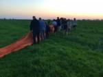 Meesterlijke luchtballon vaart boven de regio Beesd zaterdag 21 april 2018