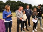 Bijzondere luchtballon vaart gestart op opstijglocatie Hoogland zaterdag 23 juni 2018